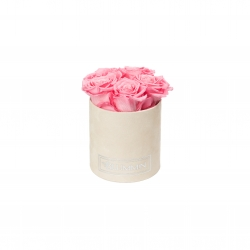 MIDI BLUMMiN LIGHT PINK VELVET BOX WITH BABY PINK ROSES