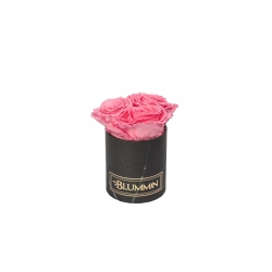 XS BLUMMiN - BLACK MARBLE BOX WITH BABY PINK ROSES