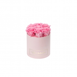 SMALL BLUMMiN - LIGHT PINK BOX WITH BABY PINK ROSES