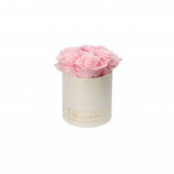 BLUMMIN MIDI CREAMY BOX WITH BRIDAL PINK ROSES