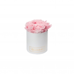 MIDI BLUMMiN- WHITE BOX WITH BRIDAL PINK ROSES