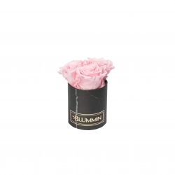 XS BLACK MARBLE BOX WITH BRIDAL PINK ROSES