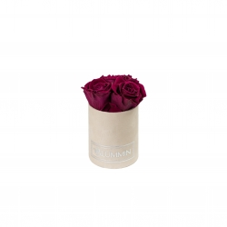 XS BLUMMiN - NUDE VELVET BOX WITH CHERRY ROSES
