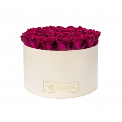 XL BLUMMiN - CREAM BOX WITH CHERRY ROSES