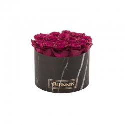 LARGE BLACK MARBLE BOX WITH CHERRY ROSES