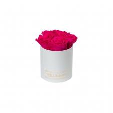 MIDI BLUMMiN - WHITE BOX WITH HOT PINK ROSES