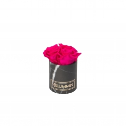 XS BLUMMIN - BLACK MARBLE BOX WITH HOT PINK ROSES