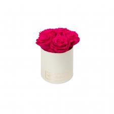 MIDI BLUMMIN CREAMY BOX WITH HOT PINK ROSES