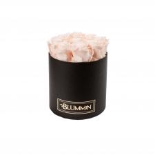 MEDIUM WHITE BOX WITH ICE PINK ROSES