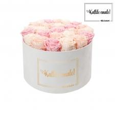 KALLILE EMALE - EXTRA LARGE VALGE SAMETKARP MIX (ICE PINK, PEACHY PINK, BRIDAL PINK) ROOSIDEGA