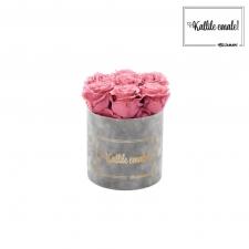 KALLILE EMALE - SMALL HELEHALL SAMETKARP VINTAGE PINK ROOSIDEGA