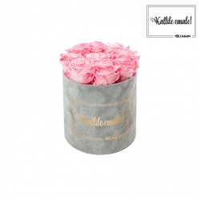 KALLILE EMALE - MEDIUM HELEHALL SAMETKARP CANDY PINK ROOSIDEGA