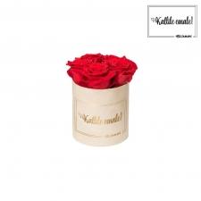 KALLILE EMALE - MIDI NUDE SAMETKARP VIBRANT RED ROOSIDEGA