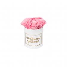 ЛЮБИМОЙ МАМОЧКЕ - MIDI WHITE BOX WITH BABY PINK ROSES