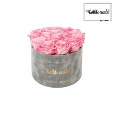 KALLILE EMALE - LARGE (17 ROOSIGA) HELEHALL SAMETKARP CANDY PINK ROOSIDEGA