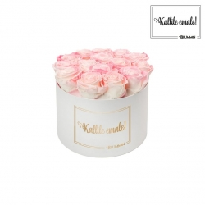 KALLILE EMALE - LARGE (17 ROOSIGA) VALGE KARP LOVELY PINK ROOSIDEGA