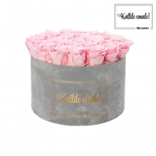 KALLILE EMALE - EXTRA LARGE HELEHALL SAMETKARP BRIDAL PINK ROOSIDEGA
