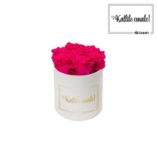 KALLILE EMALE - SMALL VALGE SAMETKARP HOT PINK ROOSIDEGA