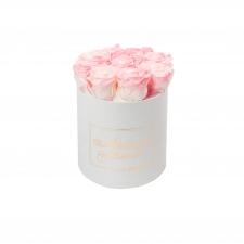 ЛЮБИМОЙ МАМОЧКЕ - MEDIUM WHITE BOX WITH LOVELY PINK ROSES