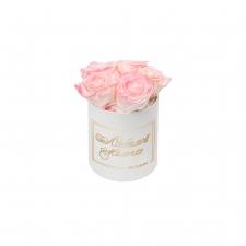 ЛЮБИМОЙ МАМОЧКЕ - MIDI WHITE BOX WITH LOVELY PINK ROSES