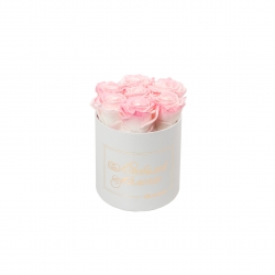 ЛЮБИМОЙ МАМОЧКЕ - SMALL WHITE BOX WITH LOVELY PINK ROSES
