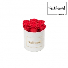 KALLILE EMALE - SMALL VALGE SAMETKARP VIBRANT RED ROOSIDEGA