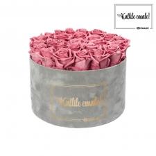 KALLILE EMALE - EXTRA LARGE HELEHALL SAMETKARP VINTAGE PINK ROOSIDEGA