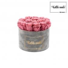 KALLILE EMALE - LARGE (17 ROOSIGA) HELEHALL SAMETKARP VINTAGE PINK ROOSIDEGA