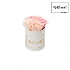 KALLILE EMALE - MIDI VALGE SAMETKARP  MIX (ICE PINK, PEACHY PINK, BRIDAL PINK) ROOSIDEGA
