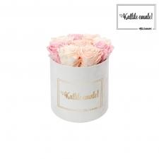 KALLILE EMALE - MEDIUM VALGE SAMETKARP MIX (ICE PINK, PEACHY PINK, BRIDAL PINK) ROOSIDEGA