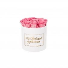 ЛЮБИМОЙ МАМОЧКЕ - MEDIUM WHITE BOX WITH BABY PINK ROSES