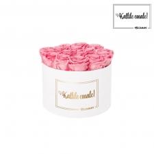 KALLILE EMALE - LARGE (17 ROOSIGA) VALGE KARP BABY PINK ROOSIDEGA