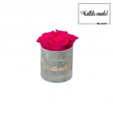 KALLILE EMALE - MIDI HELEHALL SAMETKARP  HOT PINK ROOSIDEGA