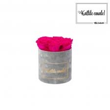 KALLILE EMALE - SMALL HELEHALL SAMETKARP HOT PINK ROOSIDEGA