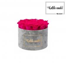 KALLILE EMALE - LARGE (17 ROOSIGA) HELEHALL SAMETKARP HOT PINK ROOSIDEGA