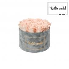KALLILE EMALE - LARGE (17 ROOSIGA) HELEHALL SAMETKARP PEACHY PINK ROOSIDEGA