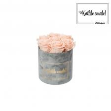 KALLILE EMALE - SMALL HELEHALL SAMETKARP PEACHY PINK ROOSIDEGA
