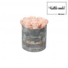 KALLILE EMALE - MEDIUM HELEHALL SAMETKARP PEACHY PINK ROOSIDEGA