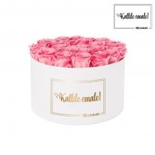 KALLILE EMALE - EXTRA LARGE VALGE KARP BABY PINK ROOSIDEGA