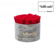 KALLILE EMALE - LARGE (17 ROOSIGA) HELEHALL SAMETKARP VIBRANT RED ROOSIDEGA