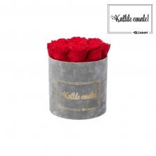 KALLILE EMALE - MEDIUM HELEHALL SAMETKARP VIBRANT RED ROOSIDEGA