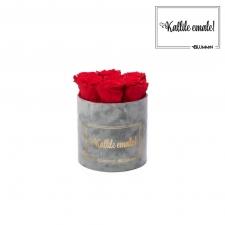 KALLILE EMALE - SMALL HELEHALL SAMETKARP VIBRANT RED ROOSIDEGA
