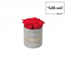 KALLILE EMALE - MIDI HELEHALL SAMETKARP  VIBRANT RED ROOSIDEGA