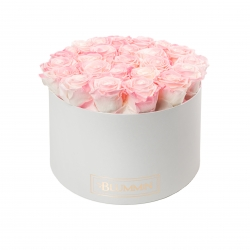 EXTRA LARGE BLUMMiN WHITE BOX WITH LOVELY PINK ROSES
