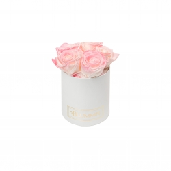 MIDI BLUMMIN WHITE BOX WITH LOVELY PINK ROSES