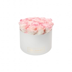 LARGE BLUMMIN WHITE BOX WITH LOVELY PINK ROSES