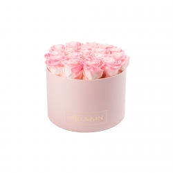 LARGE BLUMMIN LIGHT PINK BOX WITH LOVELY PINK ROSES