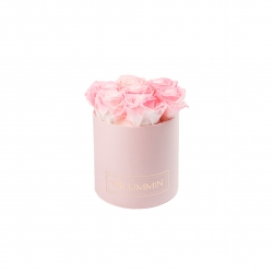 SMALL BLUMMIN LIGHT PINK BOX WITH LOVELY PINK ROSES