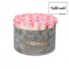 KALLILE EMALE - EXTRA LARGE HELEHALL SAMETKARP LOVELY PINK ROOSIDEGA