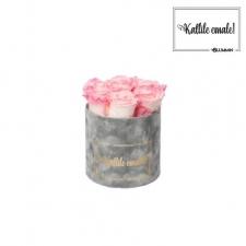 KALLILE EMALE - SMALL HELEHALL SAMETKARP LOVELY PINK ROOSIDEGA